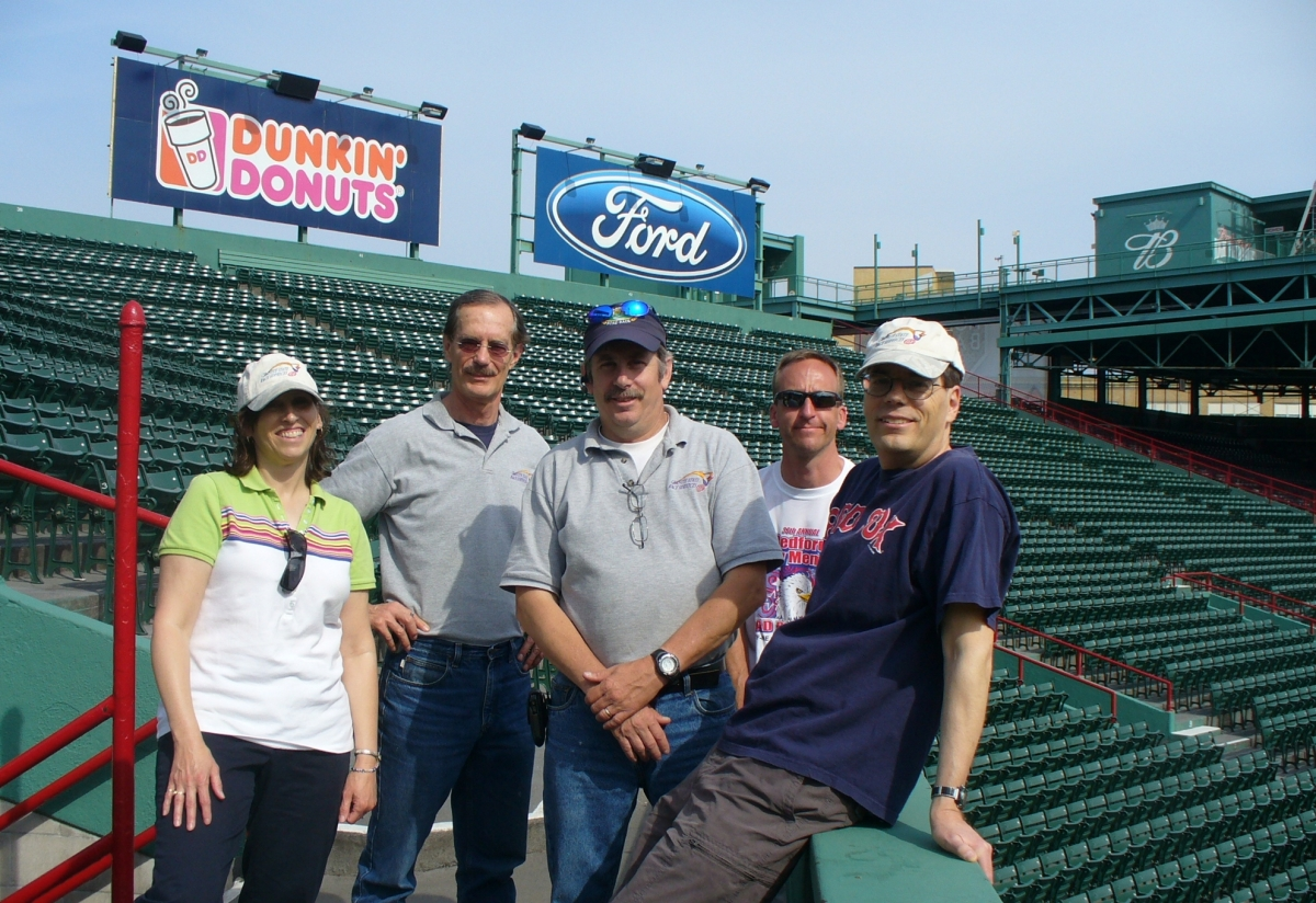 The team at Run to Home Base in Fenway Park